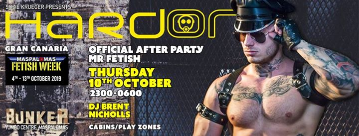 Hard On - Official After Party Mr Fetish in Playa del Ingles le Do 10. Oktober, 2019 23.00 bis 06.00 (Clubbing Gay)