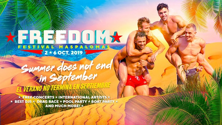 Freedom Festival Maspalomas 2019 in Maspalomas from  2 til October  6, 2019 (Festival Gay)