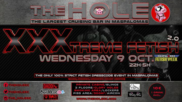 Xxxtreme Fetish 2.0 in Playa del Ingles le Wed, October  9, 2019 from 11:30 pm to 04:45 am (Sex Gay)