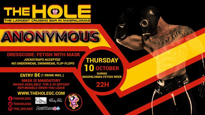 Anonymous - Maspalomas Fetish Week 2019 in Playa del Ingles le Thu, October 10, 2019 from 10:00 pm to 05:00 am (Sex Gay)