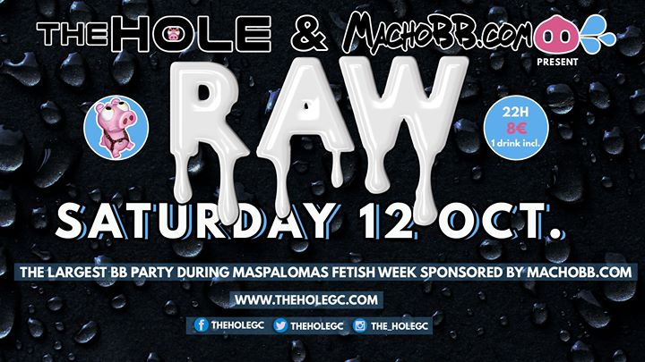 Raw by MachoBB.com in Playa del Ingles le Sat, October 12, 2019 from 10:00 pm to 05:00 am (Sex Gay)