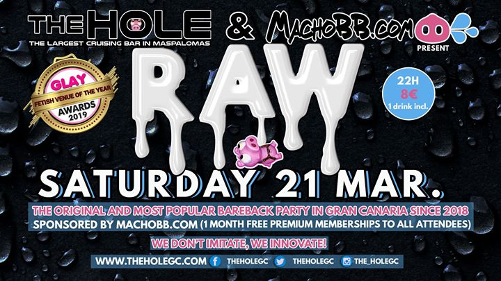 Raw Bareback Party - Bear Carnival in Playa del Ingles le Sat, March 21, 2020 from 10:00 pm to 05:00 am (Sex Gay)