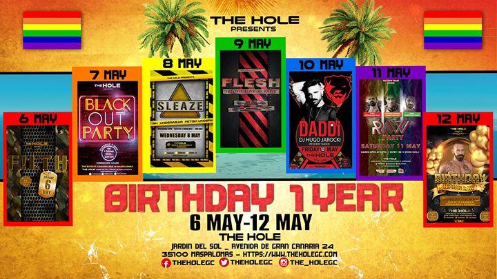 XXL Birthday The Hole 1 year - Gay Pride Maspalomas 2019 à Playa del Ingles du  6 au 13 mai 2019 (Sexe Gay)