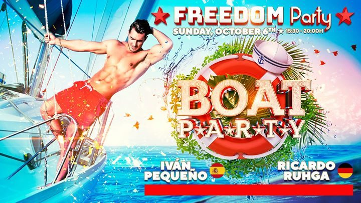 Freedom Vip Boat Party - Official Event FFM 2019 in Maspalomas le Sun, October  6, 2019 from 03:30 pm to 08:00 pm (Cruise Gay, Lesbian)