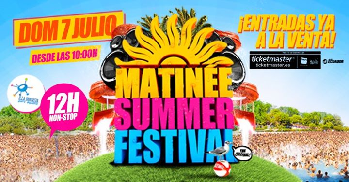 Matinée Summer Festival 2019 in Barcelona le Sun, July  7, 2019 from 10:00 am to 10:00 pm (Clubbing Gay)