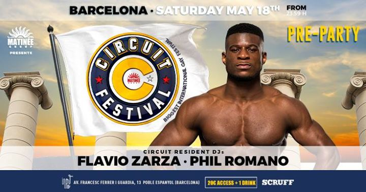 Circuit Festival Pre-Party • Barcelona in Barcelona le Sat, May 18, 2019 from 11:59 pm to 06:00 am (Clubbing Gay)