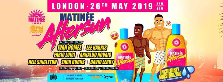 Matinee: Aftersun - Bank Holiday Summer Terrace Party en Londres le dom 26 de mayo de 2019 14:00-04:00 (Clubbing Gay)