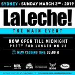 La Leche - Main Event Closing Party in Sydney le Sun, March  3, 2019 from 03:00 pm to 12:00 am (Clubbing Gay)