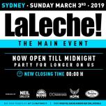 La Leche - Main Event Closing Party à Sydney le dim.  3 mars 2019 de 15h00 à 00h00 (Clubbing Gay)
