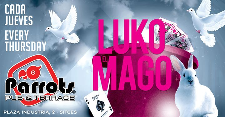 锡切斯Luko el Mago2019年 7月12日,19:00(男同性恋, 女同性恋 下班后的活动)