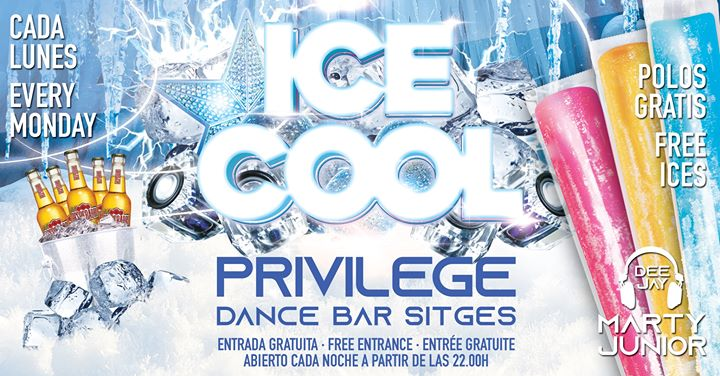 ICE COOL in Sitges le Mo  1. Juli, 2019 22.00 bis 01.00 (Clubbing Gay)