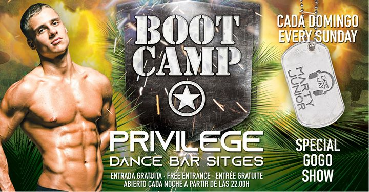 BOOT CAMP in Sitges le Fr  5. Juli, 2019 22.00 bis 01.00 (Clubbing Gay)