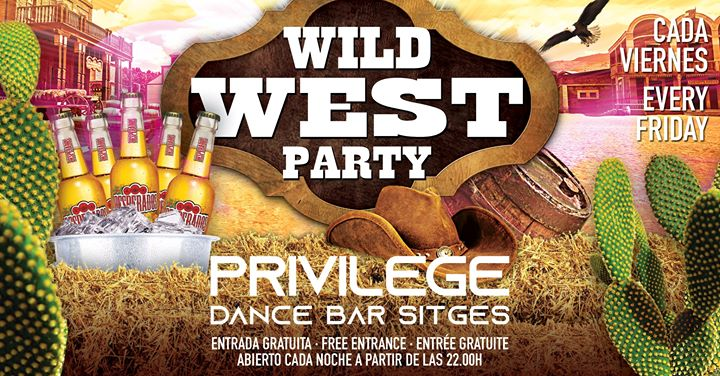WILD WEST PARTY à Sitges le ven. 19 juillet 2019 de 22h00 à 01h00 (Clubbing Gay)