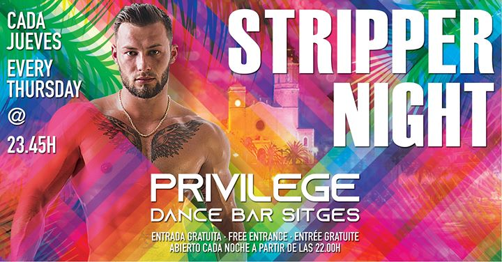 Stripper Night in Sitges le Do  4. Juli, 2019 23.45 bis 02.45 (Clubbing Gay)