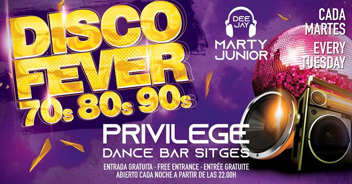 Disco Fever 70s 80s 90s em Sitges le ter,  6 agosto 2019 22:00-03:00 (Clubbing Gay)