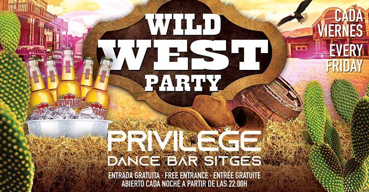 WILD WEST PARTY à Sitges le ven. 30 août 2019 de 22h00 à 01h00 (Clubbing Gay)