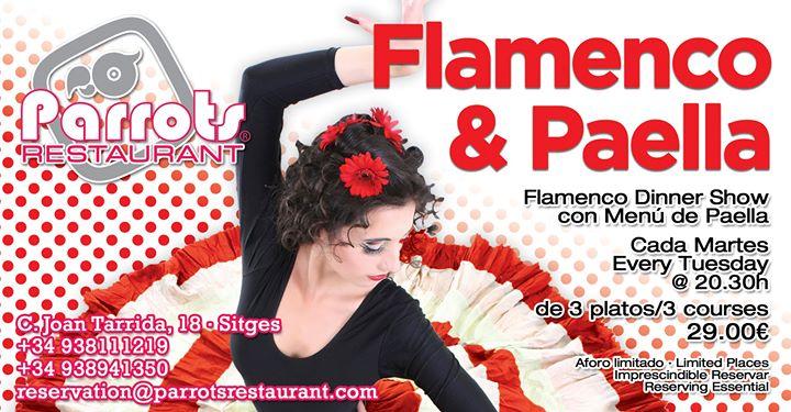 Flamenco y Paella à Sitges le mar.  3 septembre 2019 de 20h30 à 00h00 (After-Work Gay, Lesbienne)