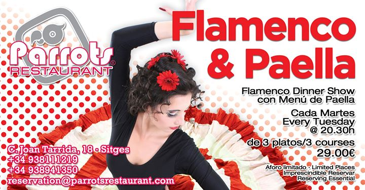 Flamenco y Paella in Sitges le Tue, August 20, 2019 from 08:30 pm to 12:00 am (After-Work Gay, Lesbian)