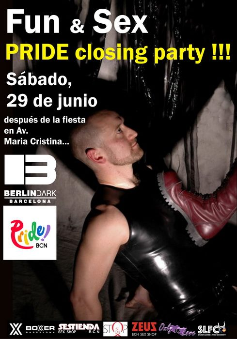 巴塞罗那PRIDE closing party !2019年10月29日,22:30(男同性恋 性别)