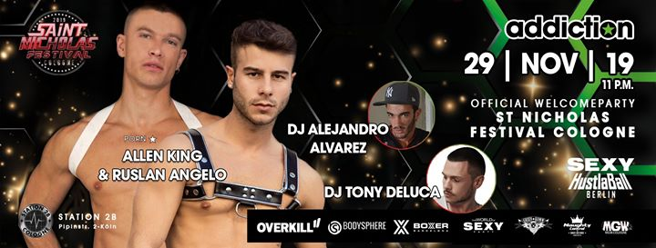 Addiction Cologne - St. Nicholas Festival Welcome Party in Koln le Fri, November 29, 2019 from 10:00 pm to 05:00 am (Clubbing Gay)