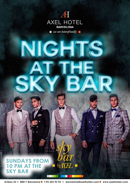 巴塞罗那Nights at the Sky Bar!2019年10月30日,22:00(男同性恋, 女同性恋, 异性恋友好 下班后的活动)