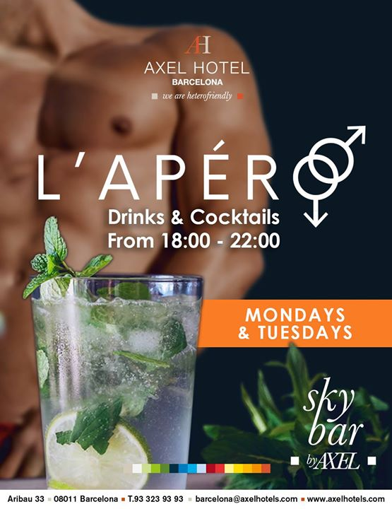 L'Apéro in Barcelona le Mon, April 22, 2019 from 06:00 pm to 10:00 pm (After-Work Gay, Lesbian, Hetero Friendly)