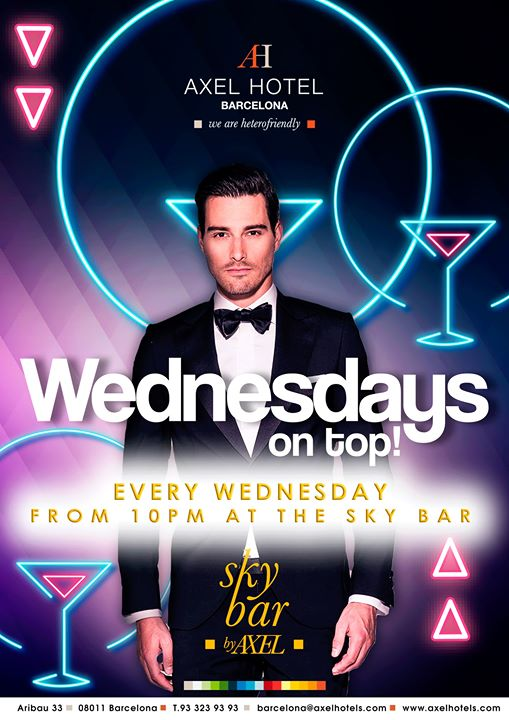 巴塞罗那Wednesdays on TOP!2019年10月 3日,22:00(男同性恋, 女同性恋, 异性恋友好 下班后的活动)