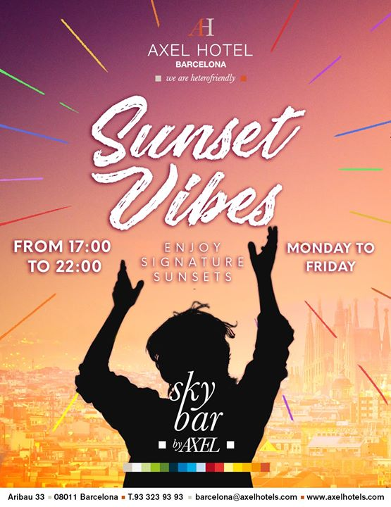 Sunset Vibes! Summer Edition à Barcelone le mer. 31 juillet 2019 de 17h00 à 20h00 (After-Work Gay, Lesbienne, Hétéro Friendly)