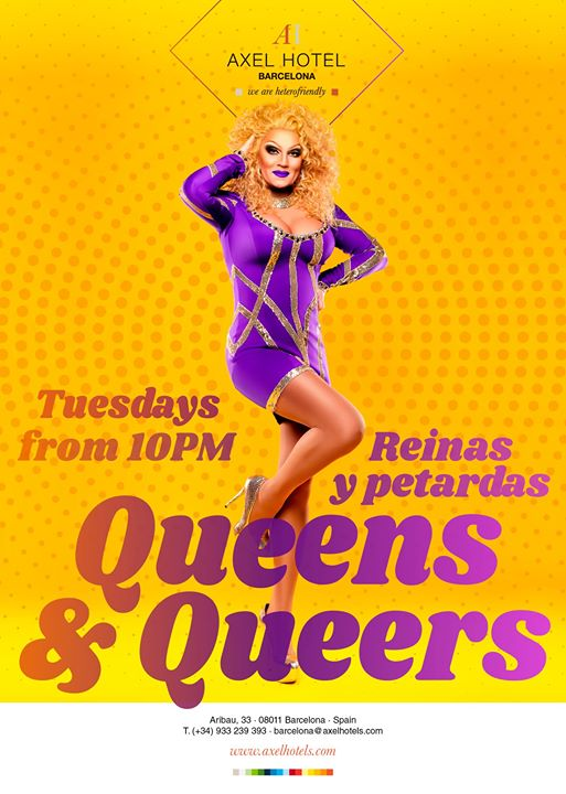 Queens & Queers in Barcelona le Mon, September  2, 2019 from 10:00 pm to 02:00 am (After-Work Gay, Lesbian, Hetero Friendly)