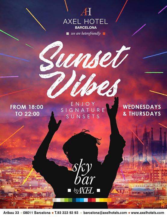 Sunset Vibes! en Barcelona le mié 15 de mayo de 2019 18:00-00:00 (After-Work Gay, Lesbiana, Hetero Friendly)