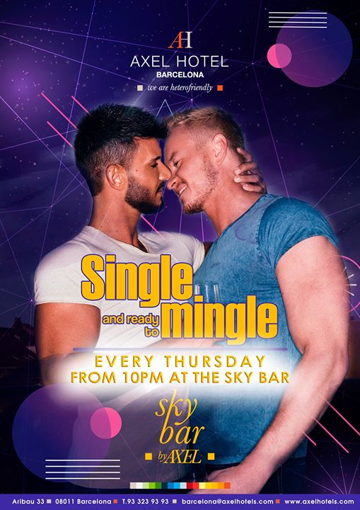 Single and ready to mingle! in Barcelona le Thu, July 18, 2019 from 10:00 pm to 02:00 am (After-Work Gay, Lesbian, Hetero Friendly)