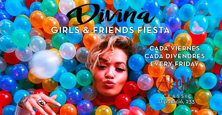 DiViNA GiRLS & FRiENDS FiESTA a Barcellona le ven 28 giugno 2019 23:00-06:00 (Clubbing Gay friendly, Lesbica)