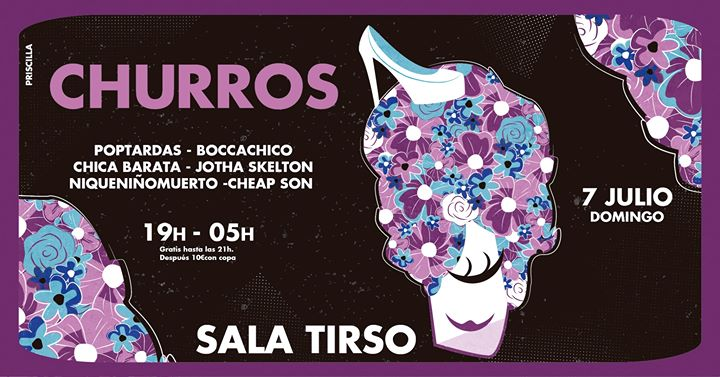 Churros con Chocolate MAD -7 Julio - Priscilla in Madrid le Sun, July  7, 2019 from 07:00 pm to 05:00 am (Clubbing Gay)