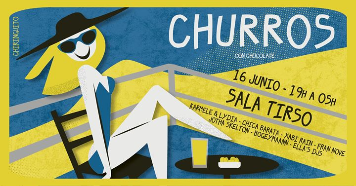 Churros con Chocolate MAD - Chiringuito in Madrid le Sun, June 16, 2019 from 07:00 pm to 05:00 am (Clubbing Gay)