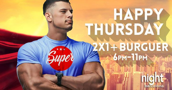 Super Happy Thursday en Barcelona le jue 19 de diciembre de 2019 18:00-23:00 (Sexo Gay)