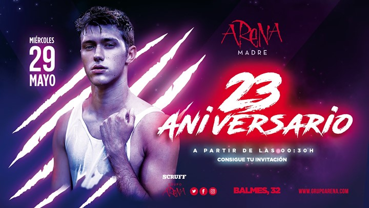 23 Aniversario Grupo Arena 29/05 Arena Madre in Barcelona le Wed, May 29, 2019 from 11:55 pm to 05:00 am (Clubbing Gay Friendly)