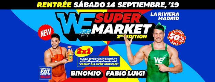 WE Supermarket - Saturday, 14.9.19 - La Riviera in Madrid le Sat, September 14, 2019 from 11:00 pm to 06:00 am (Clubbing Gay)