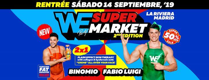WE Supermarket - Saturday, 14.9.19 - La Riviera à Madrid le sam. 14 septembre 2019 de 23h00 à 06h00 (Clubbing Gay)