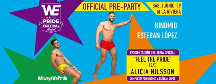 WE Party - Saturday, 1.6.19 - La Riviera in Madrid le Sat, June  1, 2019 from 11:00 pm to 06:00 am (Clubbing Gay)