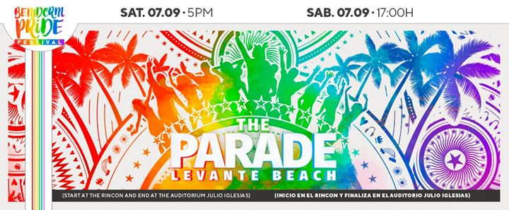 The Parade in Benidorm le Sat, September  7, 2019 from 05:00 pm to 07:00 pm (Parades Gay, Lesbian, Trans, Bi)