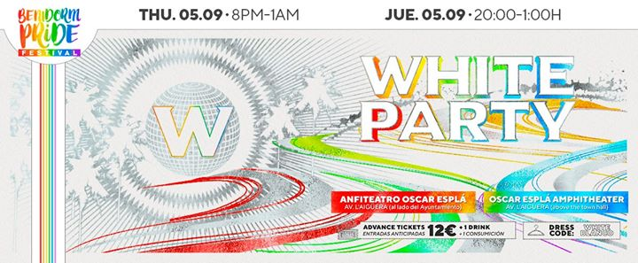 WHITE PARTY in Benidorm le Thu, September  5, 2019 from 08:00 pm to 01:00 am (Clubbing Gay, Lesbian, Trans, Bi)