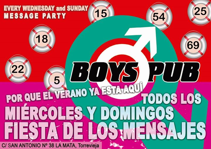 La fiesta de los mensajes 2019 in Torrevieja le Wed, July  3, 2019 from 11:00 pm to 04:30 am (Clubbing Gay)