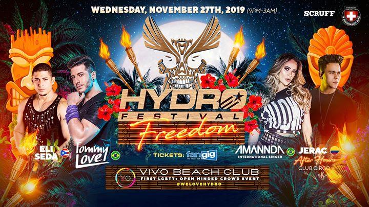 HYDRO Freedom Festival à Carolina le mer. 27 novembre 2019 de 21h00 à 03h00 (Clubbing Gay)