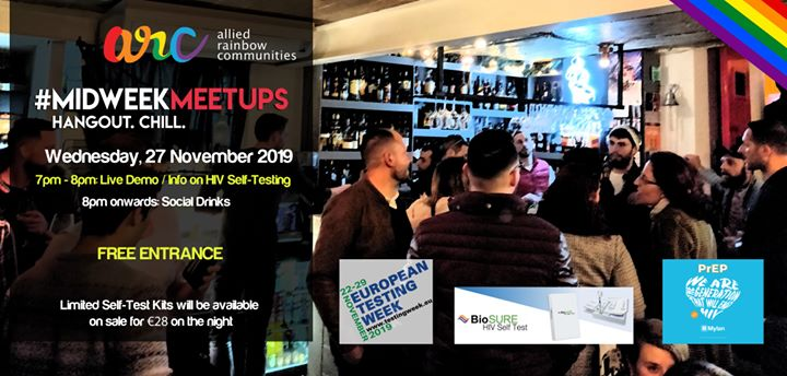 ARC Midweek Meetup - European Testing Week Special Edition em Valletta le qua, 27 novembro 2019 19:00-23:30 (Reuniões / Debates Gay, Lesbica, Trans, Bi)