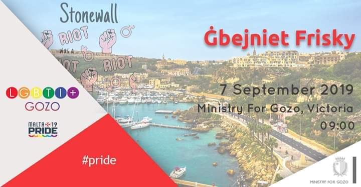 Ġbejniet Frisky en Victoria le sáb  7 de septiembre de 2019 09:00-13:00 (Festival Gay, Lesbiana, Trans, Bi)