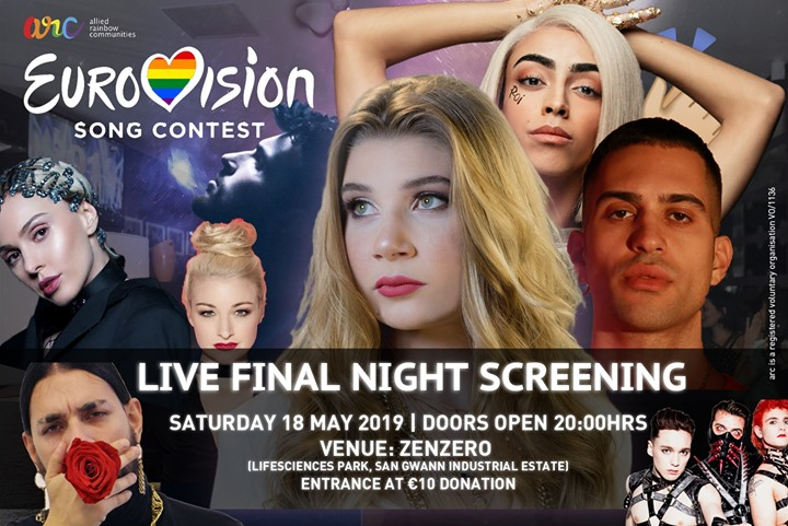 Eurovision Live Final Night Screening + After Party! em San Ġwann le sáb, 18 maio 2019 20:00-04:00 (Clubbing Gay, Lesbica, Trans, Bi)