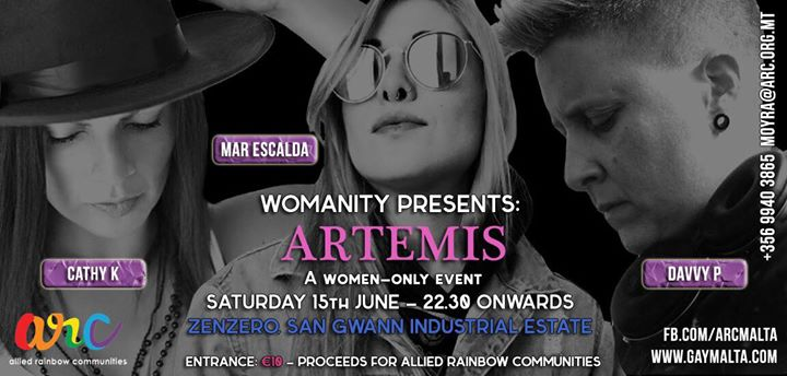San ĠwannWomanity Club Night - Artemis2019年10月15日,22:30(男同性恋, 女同性恋, 变性, 双性恋 俱乐部/夜总会)
