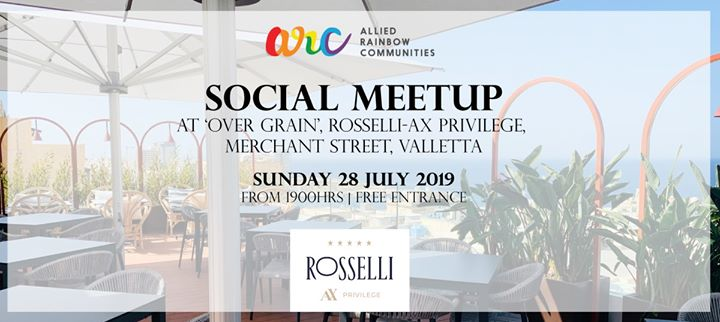 ARC Social Meetup in one of Valletta's most exclusive locations in Valletta le Sun, July 28, 2019 from 07:00 pm to 11:00 pm (Meetings / Discussions Gay, Lesbian, Trans, Bi)