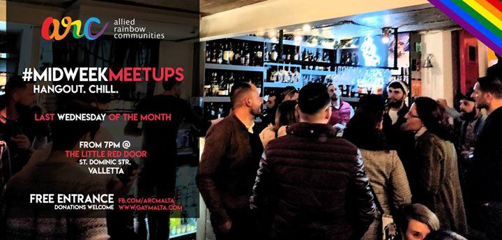 瓦莱塔Midweek Meetups - Hangout & Chill2019年 7月26日,19:00(男同性恋, 女同性恋, 变性, 双性恋 见面会/辩论)