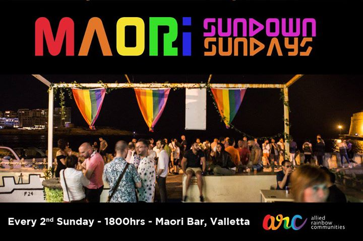 瓦莱塔Maori Sundown Sundays2019年 6月13日,18:00(男同性恋, 女同性恋, 变性, 双性恋 下班后的活动)